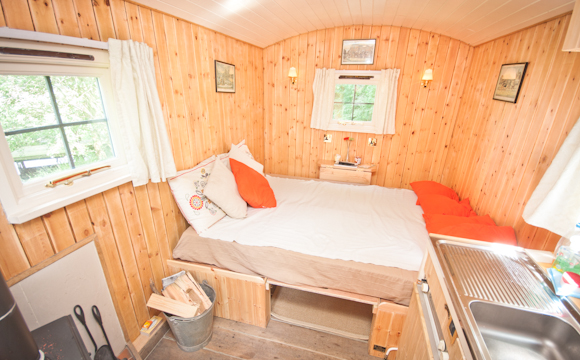 Luxury Shepherd Hut - Glamping Holiday - Inside Image
