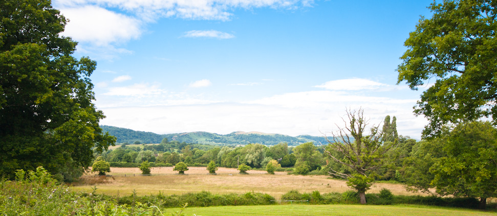 A view of the Malverns - Malvern Glamping Holiday