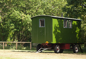 Traditional Shepherds Hut - Malvern Accomodation & Glamping Park