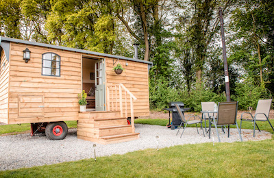 Glamping In Malvern Accommodation - Traditional Shepherds Hut Malvern