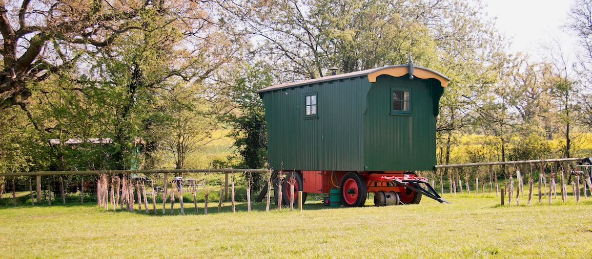Family Shepherd's Hut - Malvern Glamping Holiday